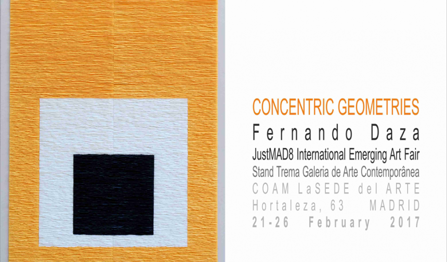 """Concentric geometries. Justmad/8, Feria Internacional de Arte Emergente"""