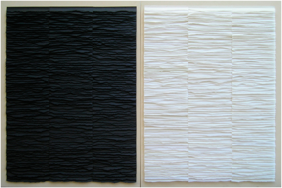 Black and white. Diptych