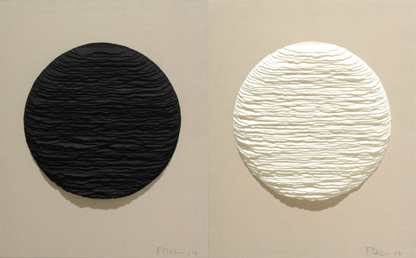 Black and white circles. Diptych