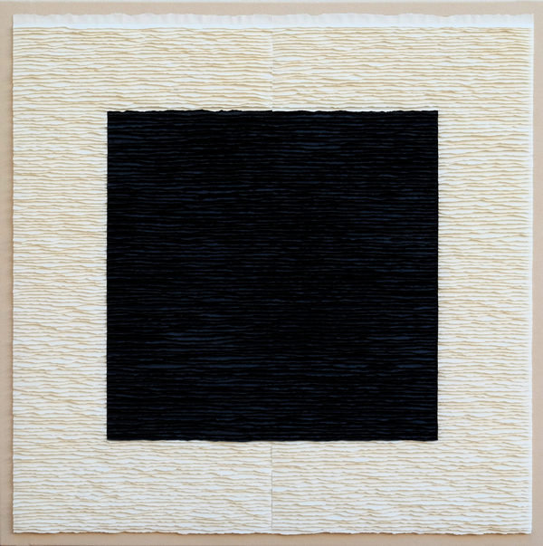 Black square on white square