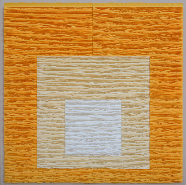 White square on yellow square on yellow square (Homage to Josef Albers)